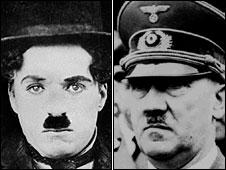 Kedua tokoh yang memiliki karakter berolah belakang, namun mempunyai penampilan kumis yang sama